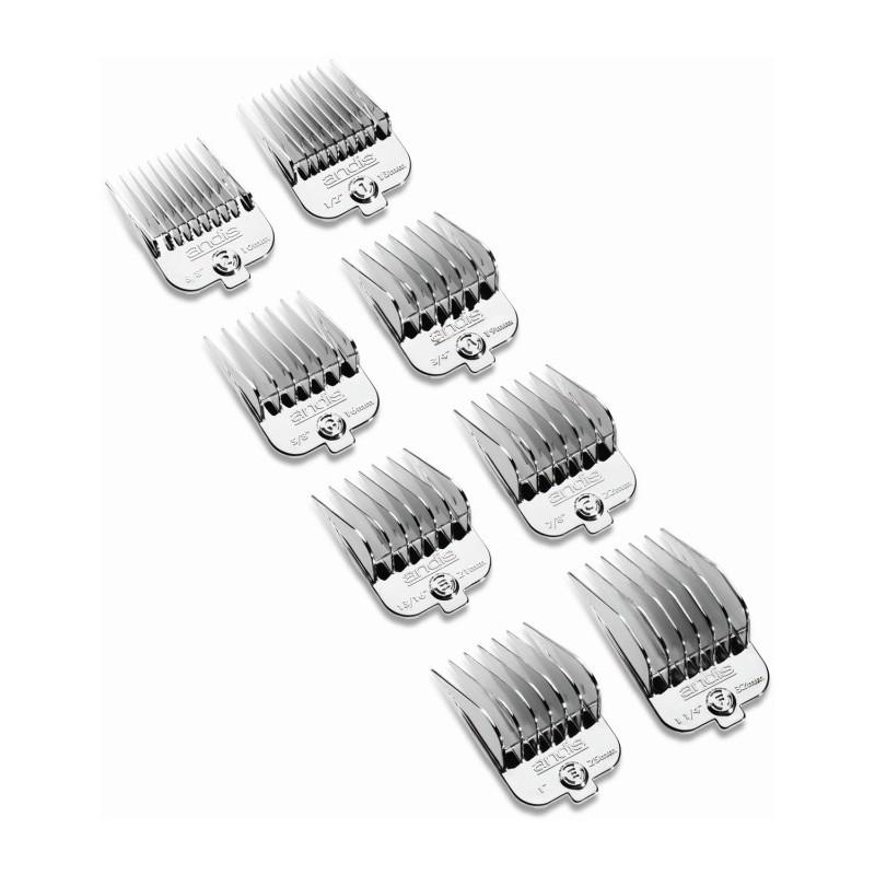 Antgalių rinkinys su magnetu Andis AN-65875 kirpimo mašinėlėms Andis AG, 8 vnt.