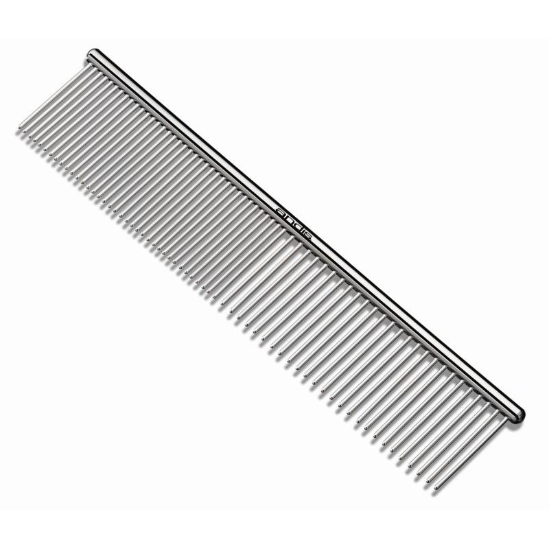 Plieninės šukos gyvūnų kailiui šukuoti 19cm, AN-65730