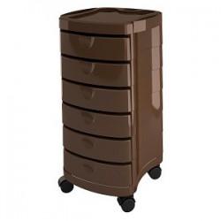Kirpėjo mobili darbo priemonių spintelė Ceriotti CIAK-S CER7249brown, su 6 mobiliais stalčiais, rudos spalvos
