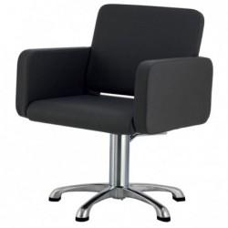 Kliento kėdė Ceriotti Class CERG409016, aliuminė koja, su hidraulika, juodos spalvos