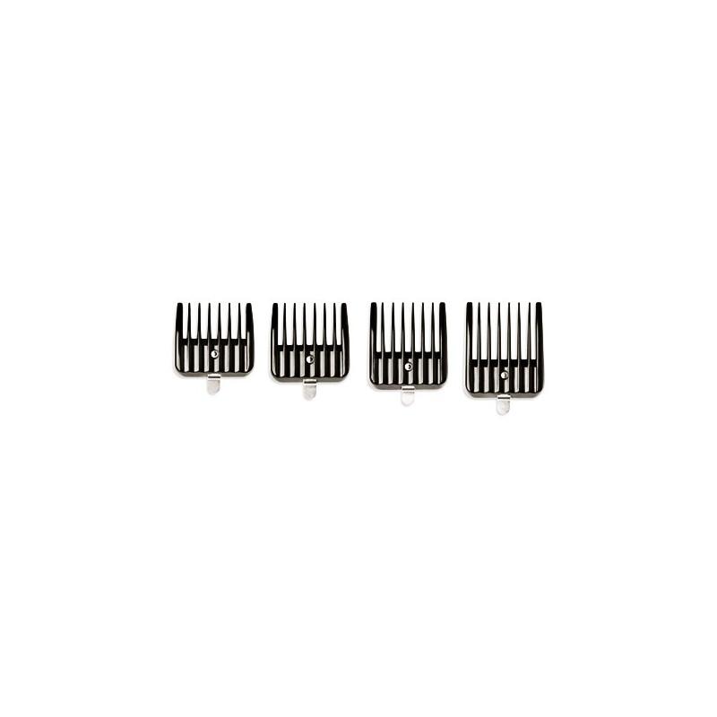 Šukų rinkinys Andis AN-04640, plaukų kirpimo mašinėlėms D-4D, 4 vnt., 0, 1, 2, 3 dydžių