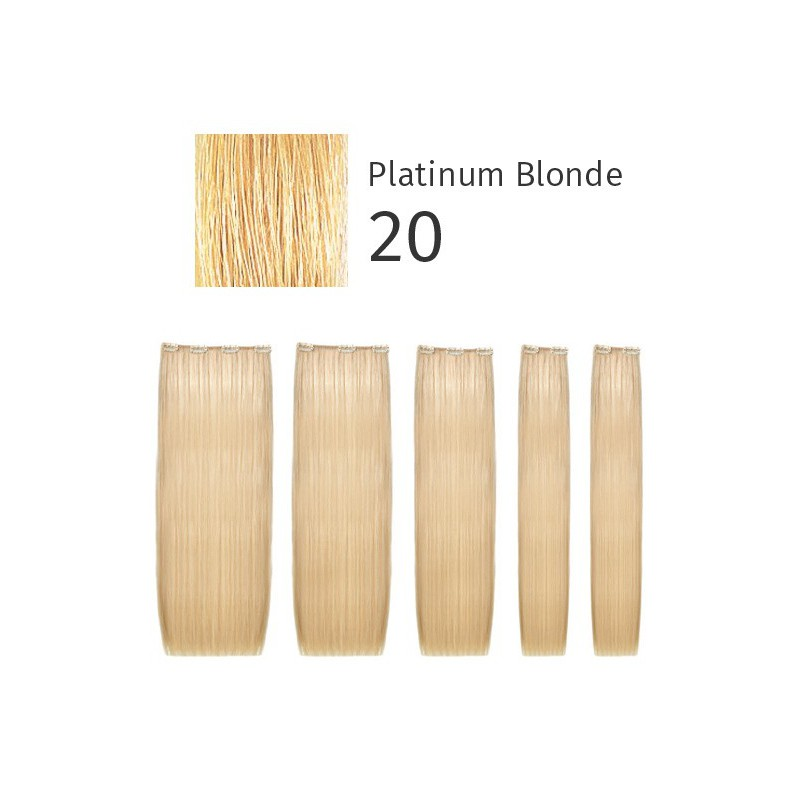 Natūralūs prisegami plaukai She Easy Long Hair Locks of Natural Hair 100% Straight 20 Platinum Blonde, 50/55 cm, 75 g