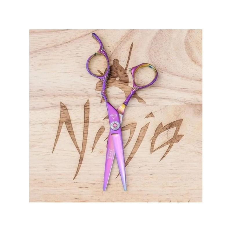 Profesionalios plaukų kirpimo žirklės Ninja Scissors Geisha NIN12008, ilgis 15,2 cm, dešinei rankai