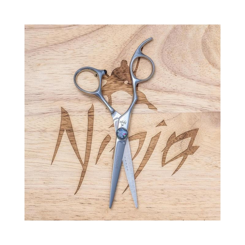 Profesionalios plaukų kirpimo žirklės Ninja Scissors Vogue Lefty NIN12087, ilgis 15,2 cm, kairei rankai