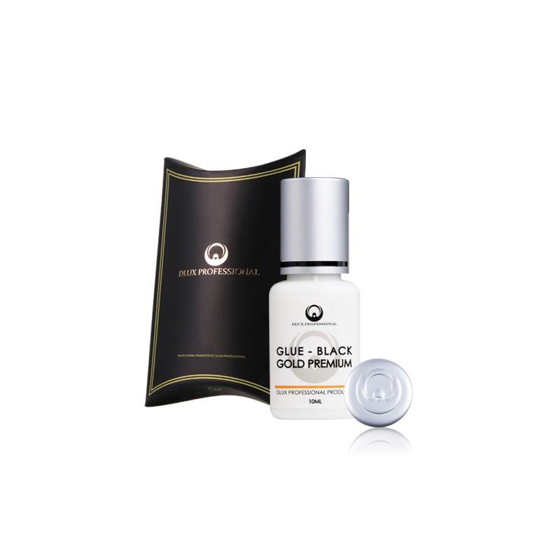 Blakstienų klijai Dlux Professional Black Gold Premium DLAMEGG10, 10 ml, džiūsta 5-7 s.