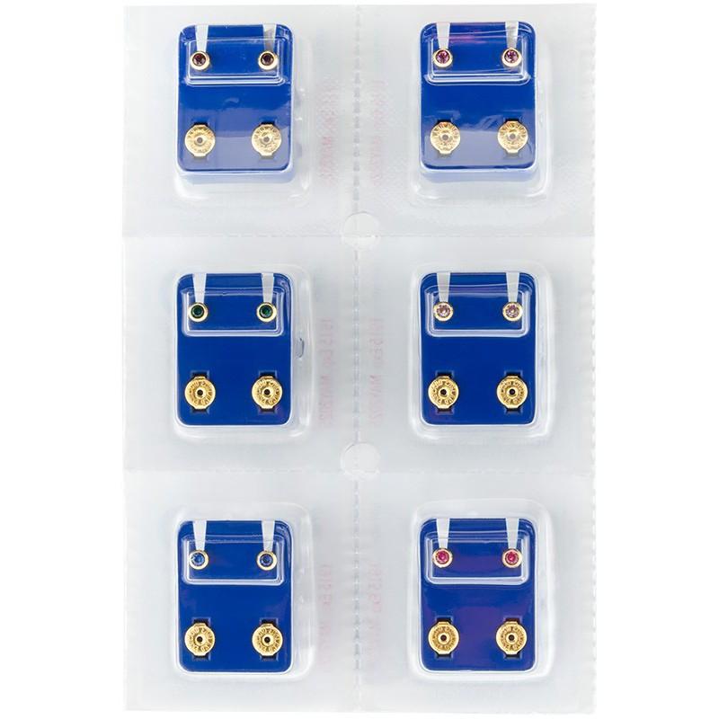 Apvalūs auskarai Caflon FCS2YB-A, auksuoti, įvairių spalvų, 1 pora