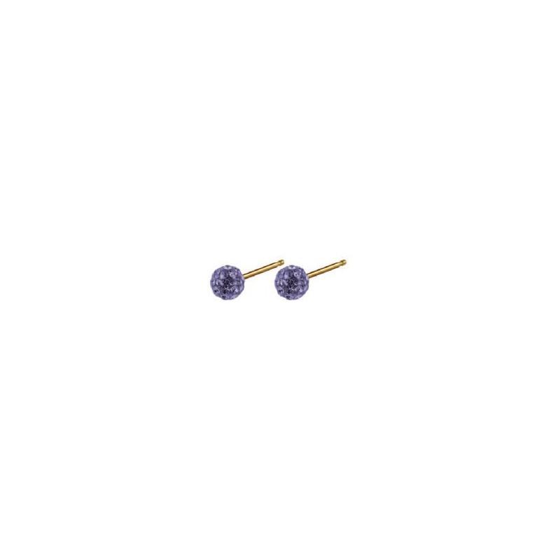 Auskarai Caflon Glitterball Tanzanite CAFFJGB45TA, 4.5 mm