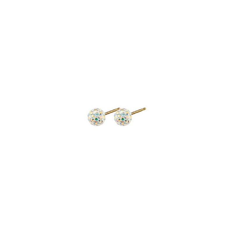 Auskarai Caflon Glitterball Rock Crystal CAFFJGB6RC, 6 mm