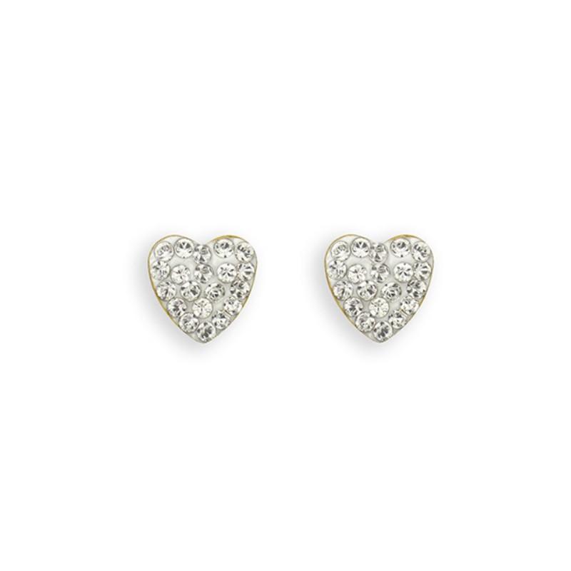 Auskarai Caflon Heart Crystal CAFFJHT8CRYYS, 8 mm