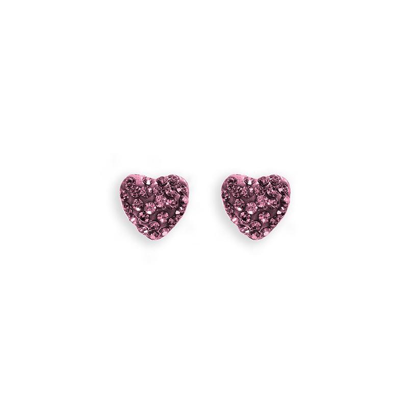 Auskarai Caflon Heart Rose, CAFFJHT8ROYS, 8 mm