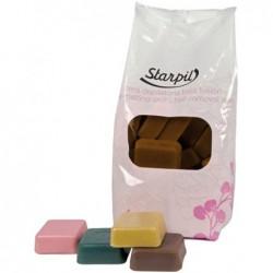 Žemoje temperatūroje besilydantis vaškas depiliacijai Starpil STR3010204001, šokolado terapija, 1 kg