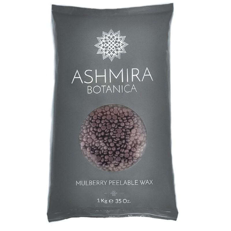 Depiliacinis vaškas granulėmis Ashmira Botanica Mulberry Peelable Wax VCABMPP01,  su šilkmedžio uogomis, ypač tinkamas jautriai odai, 1 kg