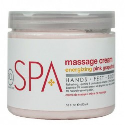 Masažo kremas BCL SPA Massage Cream Pink Grapefruit SPA58016, su raudonaisiais greifrutais, 473 ml