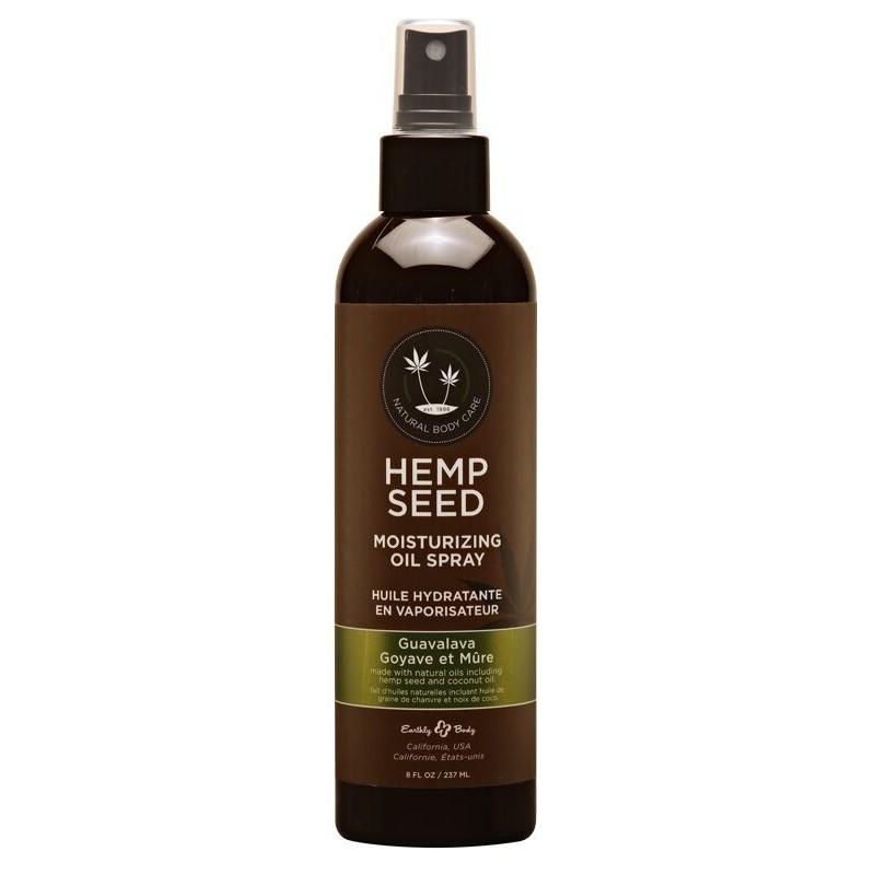 Purškiamas kūno odos aliejus Hemp Seed Moisturizing Oil Spray Guavalava GO068, drėkinantis odą, 237 ml