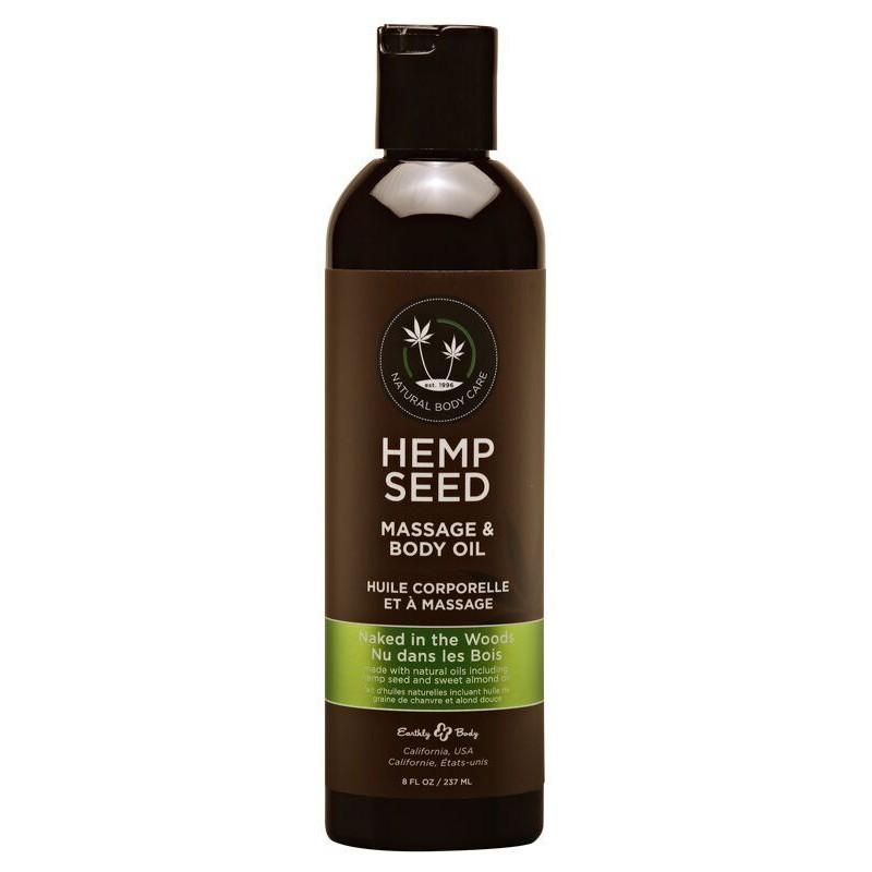 Kūno masažinis aliejus Hemp Seed Massage Oil Naked In The Woods MAS022, 237 ml