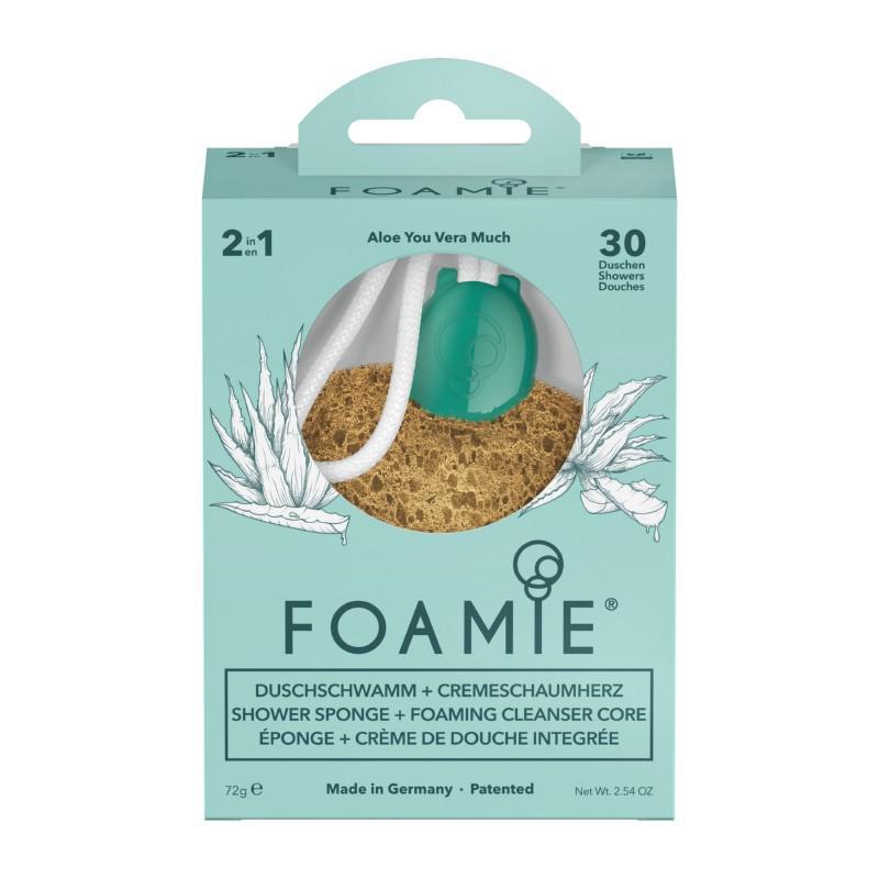 Kempinė su putojančiu prausikliu Foamie Sponge + Shower Care Inside Aloe You Vera Much FMSPAV1