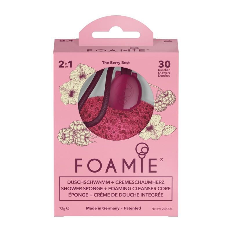 Kempinė su putojančiu prausikliu Foamie Sponge + Shower Care Inside The Berry Best FMSPBB1