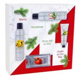 Kūno priežiūros priemonių rinkinys Greenland Gift Box Strawberry-Anise GRLFE0657, rinkinį sudaro: prausimosi putos, 200 ml, kūno losjonas - putos, 200 ml, rankų kremas, 75 ml, veido kaukė, 7 ml