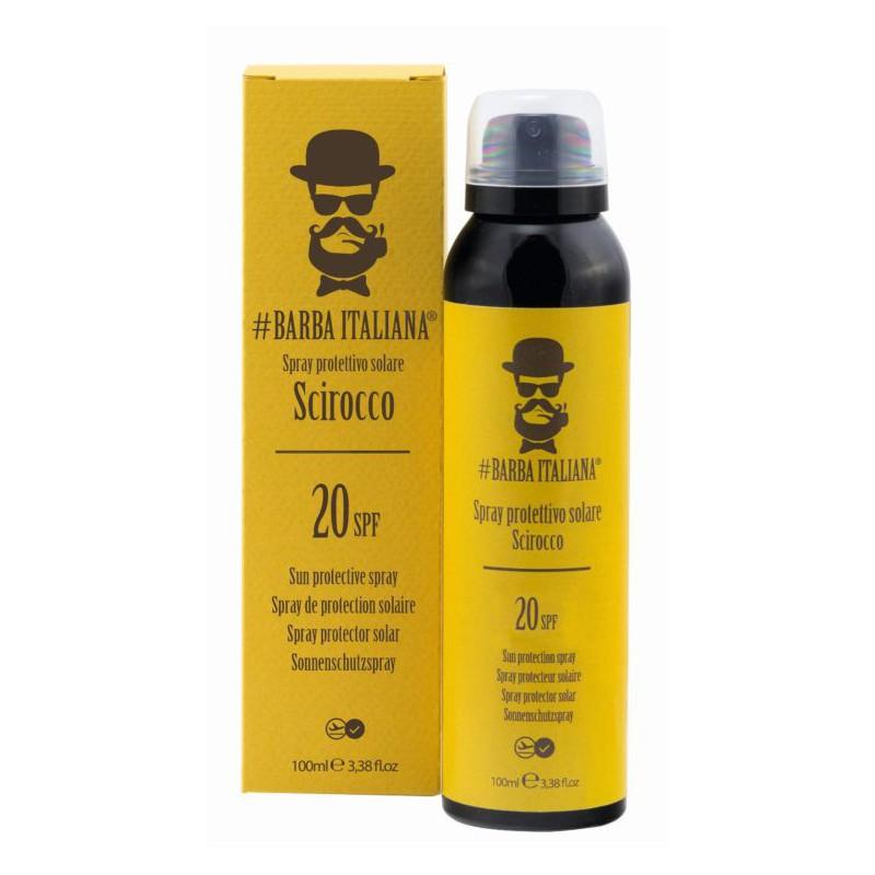 Apsauginė dulksna nuo saulės kūno odai Barba Italiana Sun Protection Spray SPF20 Scirocco BI00007, 100 ml