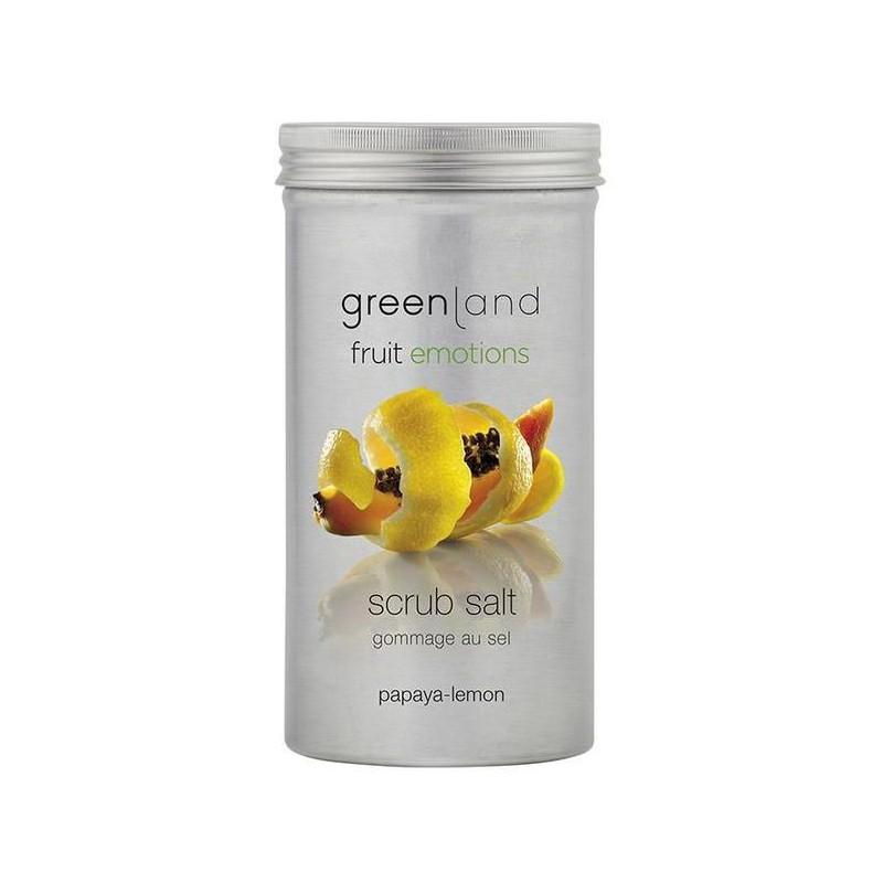 Kūno odos šveitiklis Greenland Scrub Salt Papaya - Lemon GRLFE0041, papajų - citrinų kvapo, 400 g