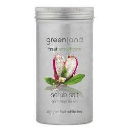 Kūno odos šveitiklis Greenland Scrub Salt Dragon Fruit - White Tea GRLFE0048, drakono vaisiaus - baltosios arbatos kvapo, 400 g