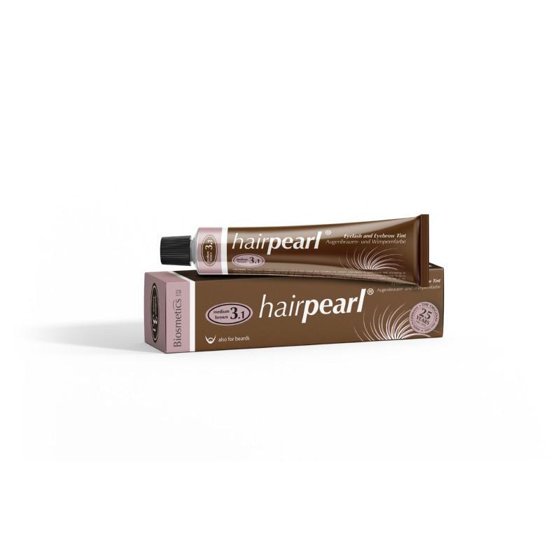Blakstienų ir antakių dažai Hairpearl Intensive Cream Hair Dye HPWM0001, 20 ml, vidutiniškai rudi