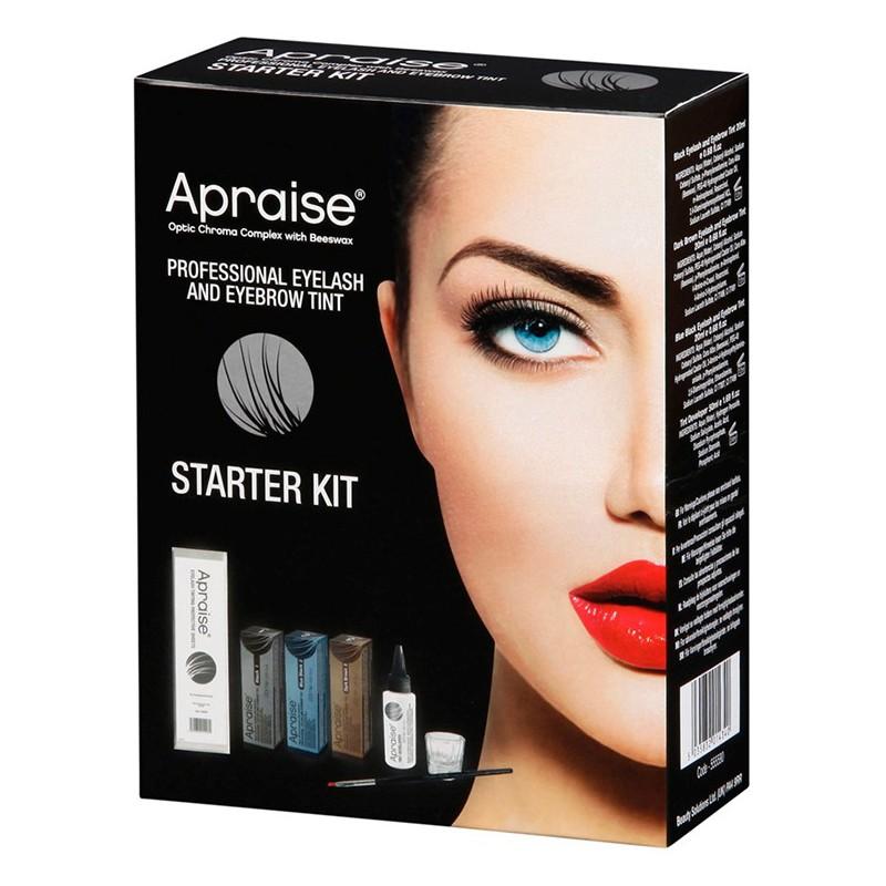 Pradedančio antakių ir blakstienų dažymo rinkinys Apraise Professional Eyelash and eyebrow Tint Starter Kit OS555590