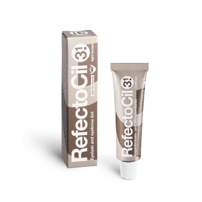 Blakstienų ir antakių dažai RefectoCil REF05731, 15 ml, Nr. 3.1 šviesiai rudi