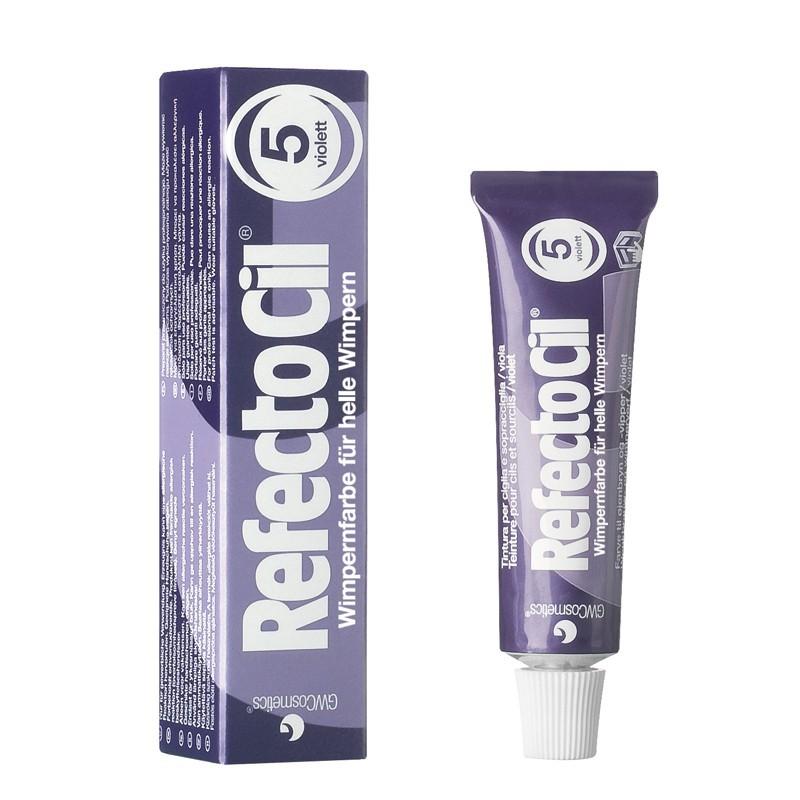 Blakstienų ir antakių dažai RefectoCil REF05750, 15 ml, Nr. 5 violetinė