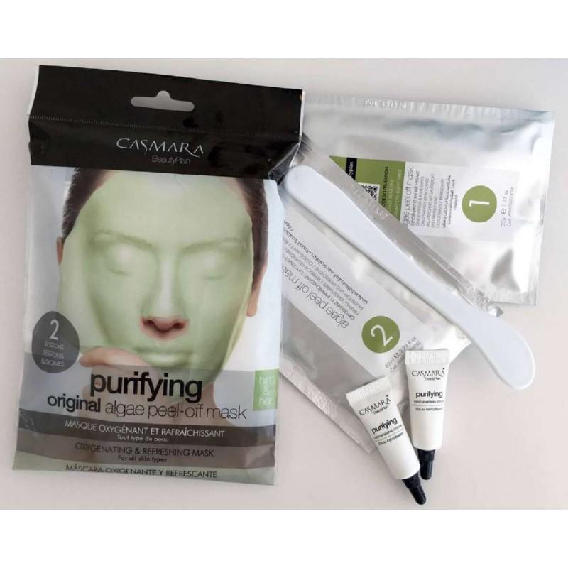 Alginatinė veido kaukė Casmara Purifying Algea Peel Off Mask CASA71001, valanti veido odą, 2 kartams