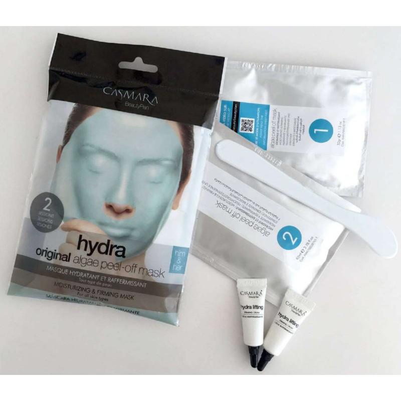 Alginatinė veido kaukė Casmara Hydra Algea Peel Off Mask CASA71002, drėkinanti veido odą, 2 kartams
