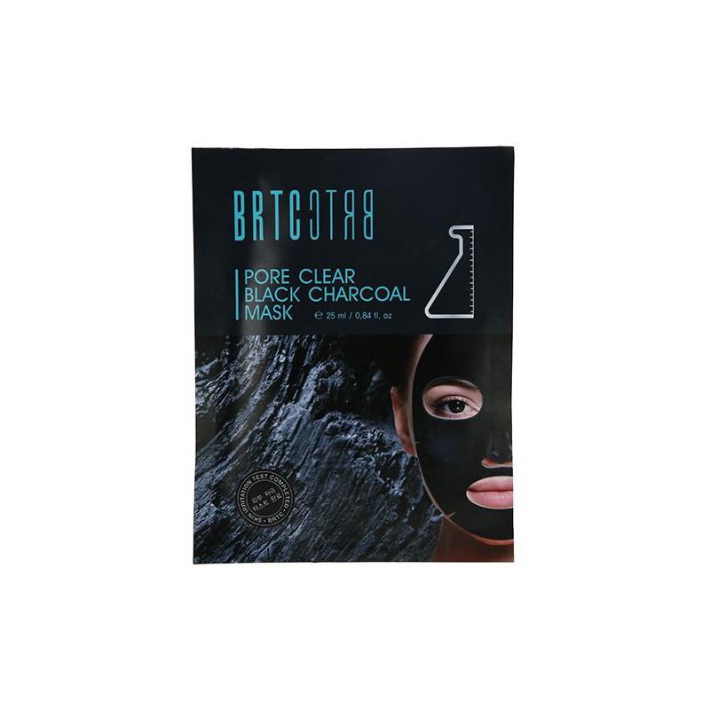 Lakštinė veido kaukė BRTC Pore Clear Black Charcoal Mask CLIV33872, valo veido odą, 25 ml