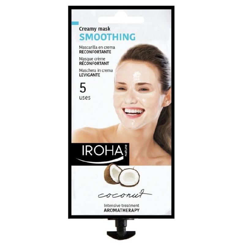 Kreminė veido kaukė Iroha Fun Day Coconut Facial Mask MCIN04 su kokosų ir rožių ekstraktu, 25 ml