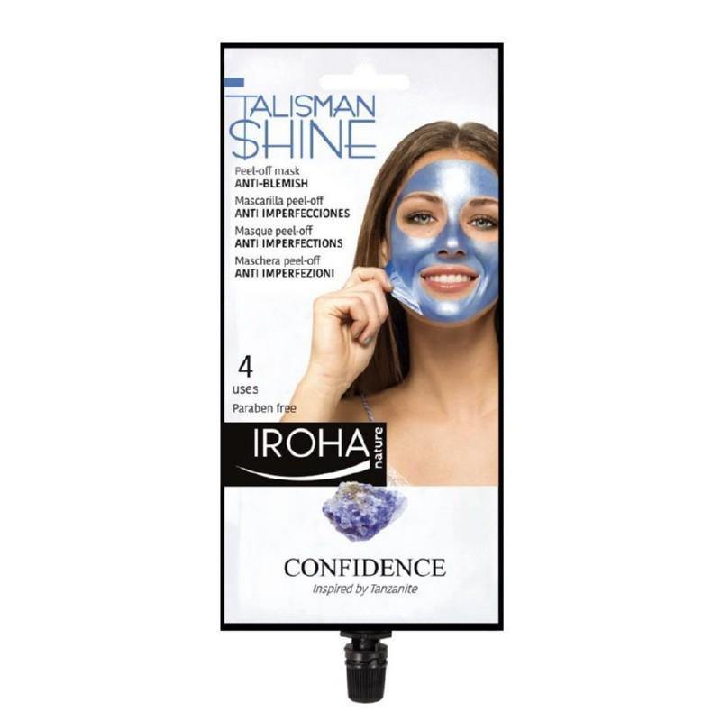 Veido kaukė Iroha Talisman Collection Peel-off Mask Blue Anti-Blemish MCIN12, nuplėšiama, 4 kartams, skaistina veido odą