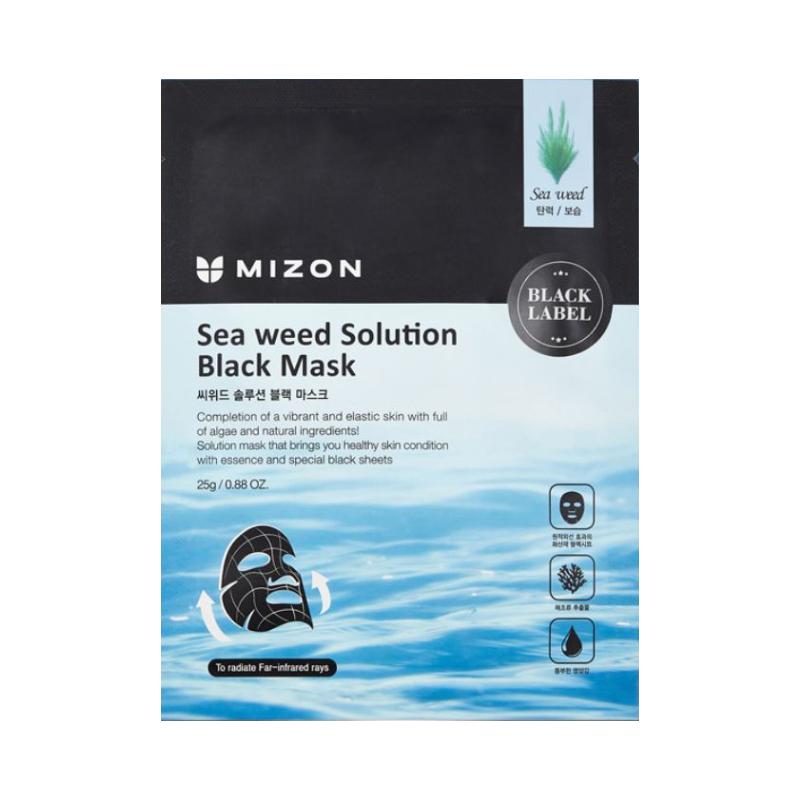 Veido kaukė Mizon Seaweed Solution Black Mask MIZ320030024, su jūros dumbliais, 25 g