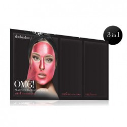 Veido kaukių rinkinys OMG! Platinum Hot Pink OMG-PM-HP,rinkinį sudaro:detoksikuojanti ir nuplėšiama veido kaukės,serumu praturtintas padelis