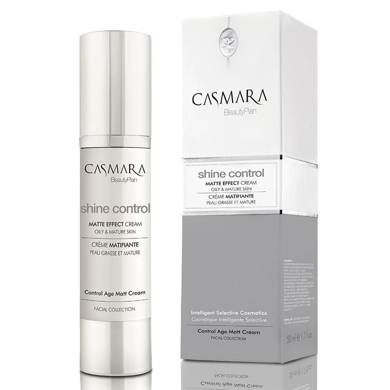 Matinį efektą odai suteikiantis veido odos kremas Casmara Shine Control Matte Effect Cream CASA00103V, stabdo odos senėjimo procesus, 50 ml