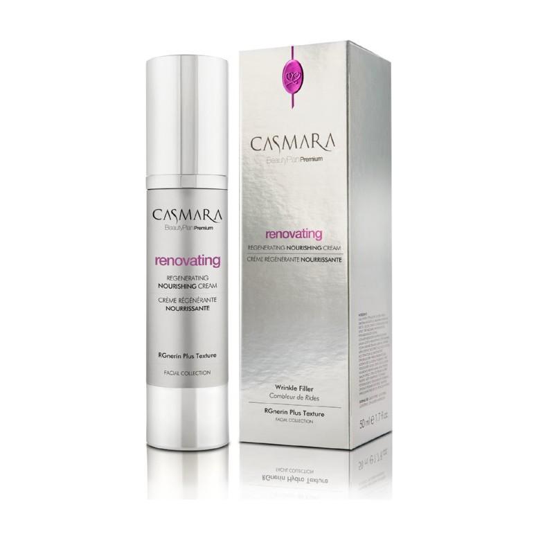 Atkuriamasis, maitinamasis veido odos kremas Casmara Renovating Regenerating Nourishing Cream CASA80002V, nuo raukšlių, 50 ml