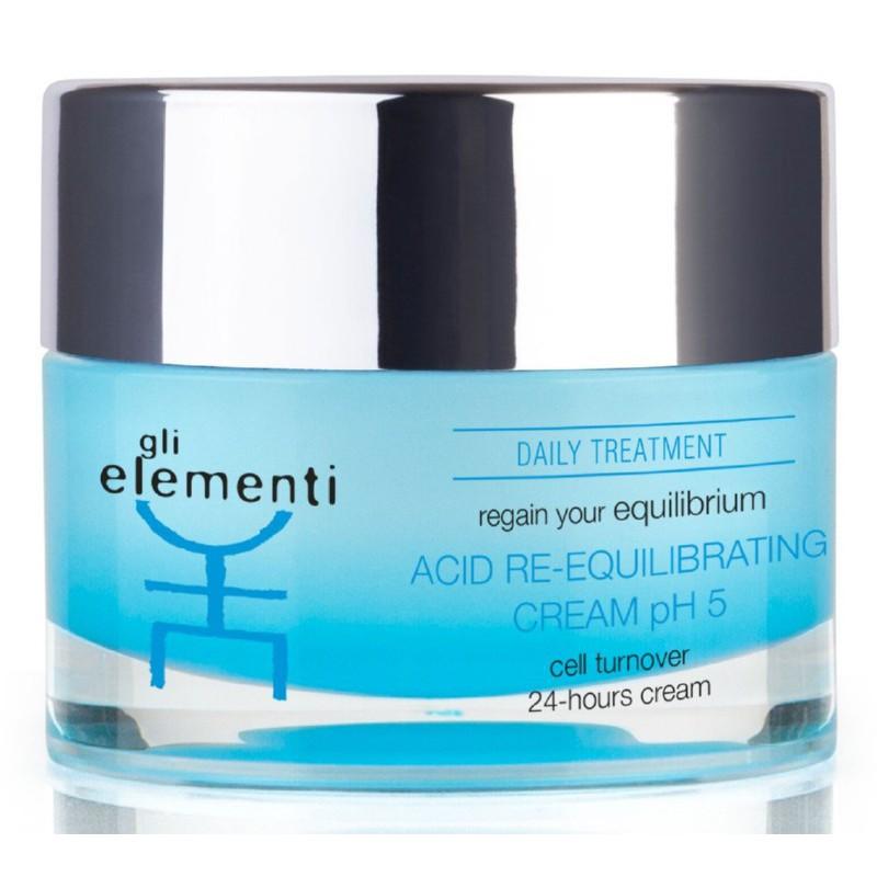 Atstatomasis veido odos kremas Gli Elementi Acid Re-Equilibrating Cream pH 5 GLI01016, 50 ml