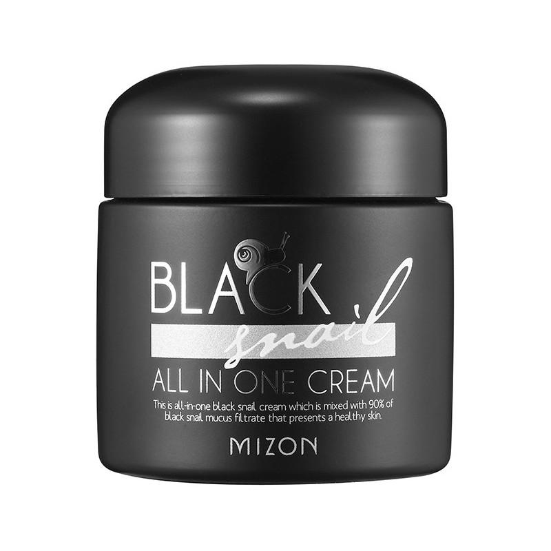 Daugiafunkcinis veido kremas Mizon Black Snail All in One Cream MIZ000004404 su juodųjų sraigių ekstraktu, 75 ml