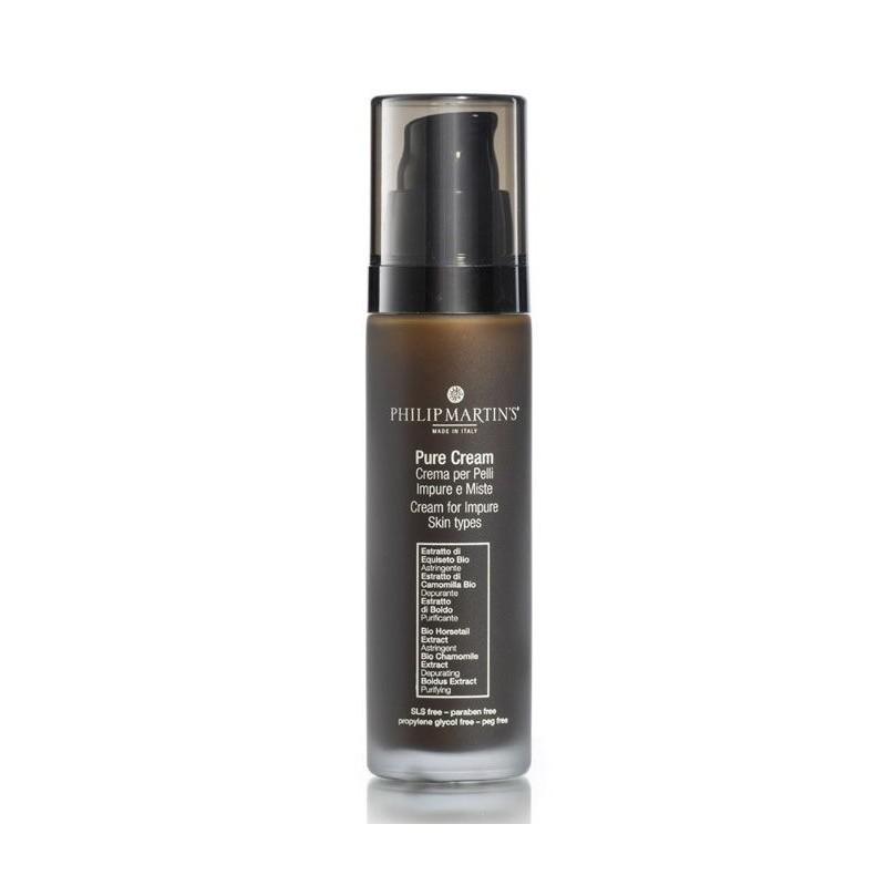 Veido odos kremas Philip Martin's Pure Cream PM8039, mišriai odai, suteikia matinį efektą, 50 ml