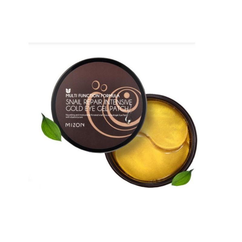 Hidrogelio paakių pagalvėlės Mizon Snail Repair Intensive Gold Eye Gel Patch, 60 pagalvėlių