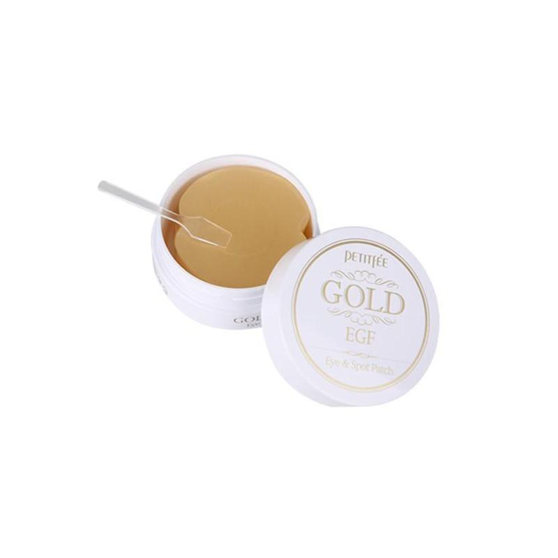 Hidrogelio pagalvėlės probleminėms veido odos vietoms Petitfee Gold EGF Eye & Spot Patch PT800618, su auksu ir bičių pikiu elastingai odai