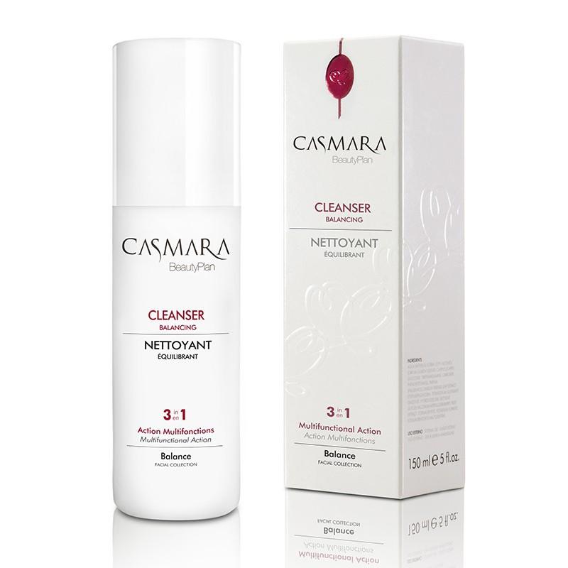 Prausiklis veido odai Casmara Cleanser Balancing Skin 3 in 1 CASA90001R, skirtas visų tipų odai, su Gojos uogų ekstraktu, 150 ml