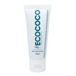 Veido šveitiklis ECOCOCO Face Exfoliator ECO00075, su jūros druska ir anglimi, 50 ml