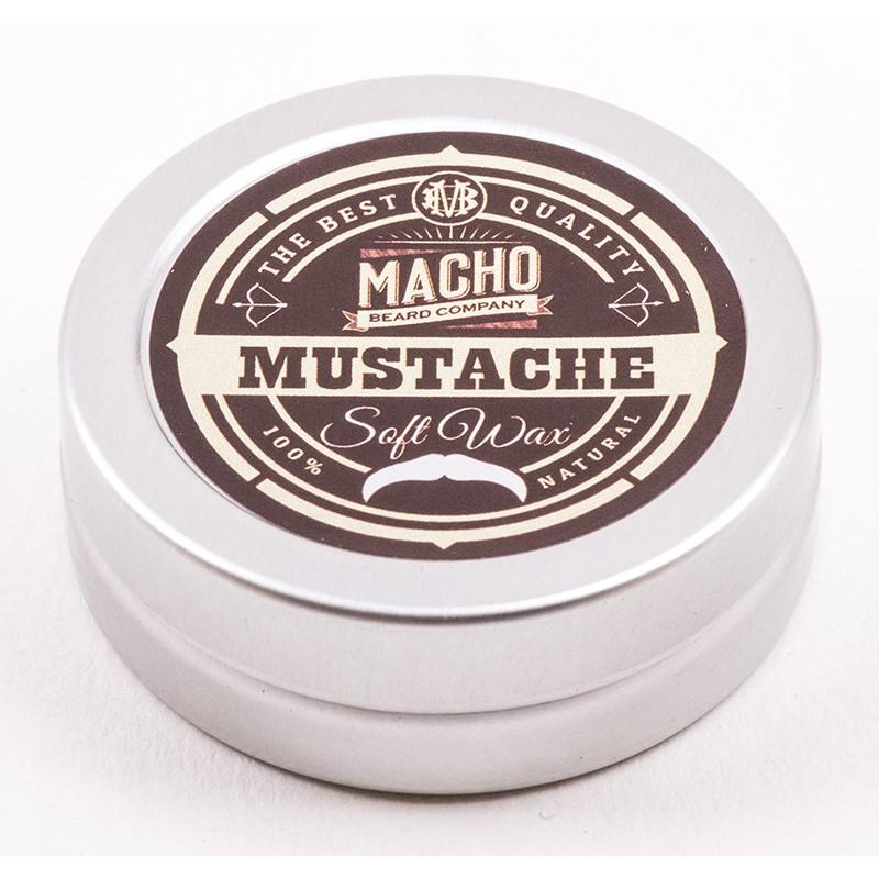 Plaukų formavimo vaškas MACHO Soft Mustache Wax MACH39108, 100 % natūralūs ingredientai, lengvos fiksacijos, 15 ml
