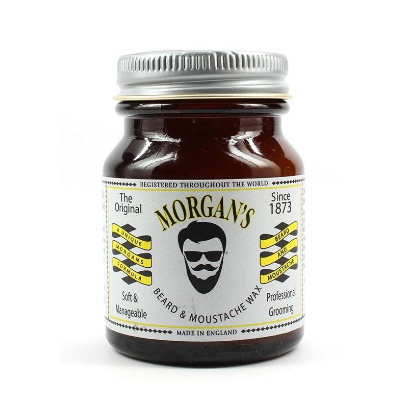 Vaškas barzdos ir ūsų formavimui Morgan's Pomade Beard & Moustahe Wax MPM036, 50 g.