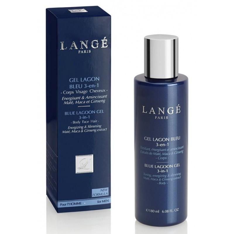 Daugiafunkcė priemonė vyrams Lange Paris for Men Gel Lagoon Wash 3 in 1 LAN1106, skirtas kūno, veido ir plaukų priežiūrai, 180 ml