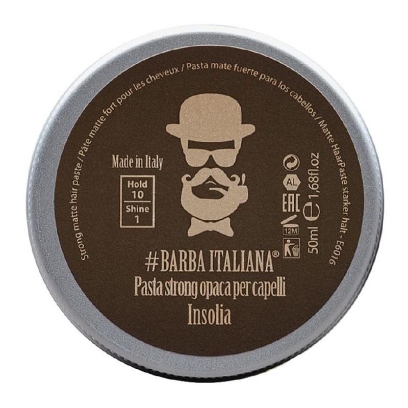 Formavimo pasta plaukams Barba Italiana, Strong Matte Hair Paste Insolia, stiprios fiksacijos, BI07070S, 50 ml