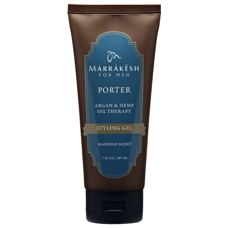 Plaukų formavimo gelis Marrakesh for Men Porter Styling Gel MKMG001, skirtas vyrams, 207 ml